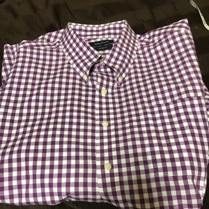 Nautica  18 34/35 purple and white shirt